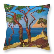 Pines Of The Silver Beach Throw Pillow