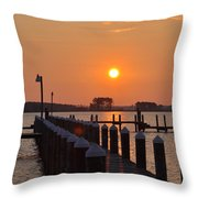 Piney Point Sunrise Throw Pillow
