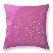 Pink Abstract Of Oil Droplet.  Throw Pillow