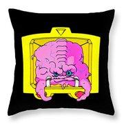 Pink Alien Throw Pillow