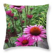 Pink All Over Throw Pillow