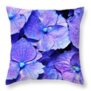 Pink And Blue Hydrangea 4 Throw Pillow