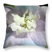 Pink And Blue Pastel Flower Throw Pillow