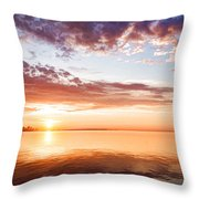 Pink And Gold Morning Zen - Toronto Skyline Impressions Throw Pillow