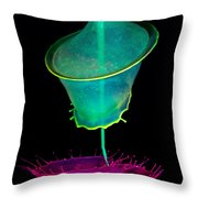 Pink And Green Composition Throw Pillow