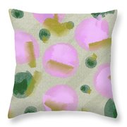 Pink And Green Inspiration Throw Pillow