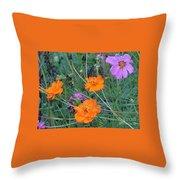 Pink And Orange Merger Throw Pillow
