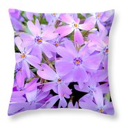 Pink And Purple Spring Throw Pillow