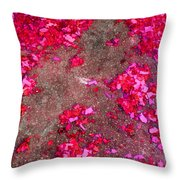 Pink And Red Firecracker Debris Abstract Throw Pillow