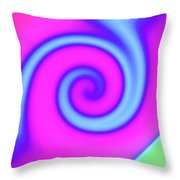 Pink And Turquoise Swirl Abstract Throw Pillow