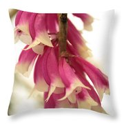 Pink And White Bells Throw Pillow