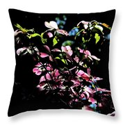 Pink And White Blossoms Throw Pillow