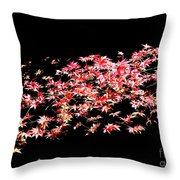 Pink And White Bush Throw Pillow