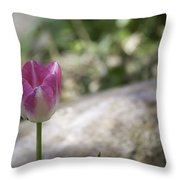 Pink And White Tulip 02 Throw Pillow