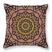 Pink And Yellow Kaleidoscope 1 Throw Pillow