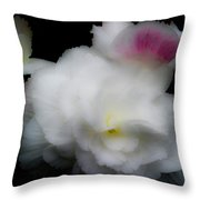Pink And Yellow On White 5 Throw Pillow