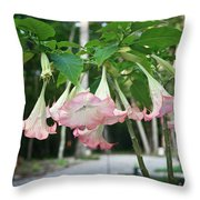 Pink Angels Throw Pillow
