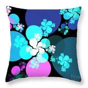 Pink Aqua Orbs Throw Pillow