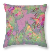 Pink Aquarium Throw Pillow