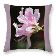 Pink Azalea Macro Throw Pillow
