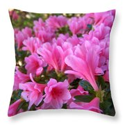 Pink Azaleas II Throw Pillow