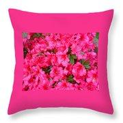 Pink Azaleas Throw Pillow