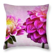Pink Beauties Throw Pillow
