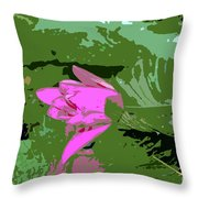 Pink Beauty Work Number 8 Throw Pillow