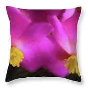 Pink Begonia In San Diego Throw Pillow