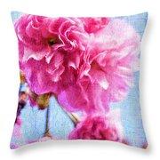 Pink Bellos Throw Pillow