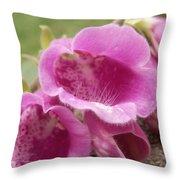 Pink Bells Throw Pillow