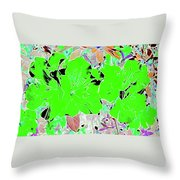 Pink Bevy Of Beauties On A Sunny Day Color Invert Throw Pillow