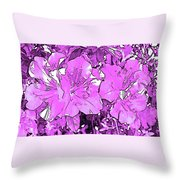 Pink Bevy Of Beauties On A Sunny Day In Violet Throw Pillow
