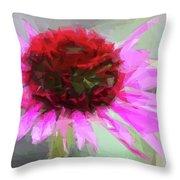 Pink Bezels Throw Pillow