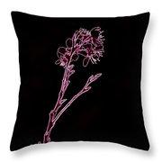 Pink Blooming Branch In Prayer Throw Pillow