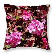 Pink Blossoms 031015 Throw Pillow
