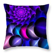 Pink Blue Bubbles Throw Pillow