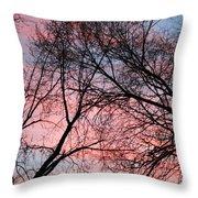 Pink Blue Sky Throw Pillow