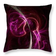 Pink Blume Throw Pillow