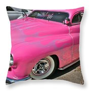 Pink Bomb Throw Pillow
