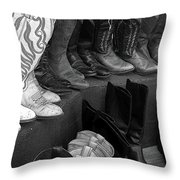 Pink Boots Throw Pillow
