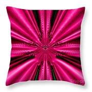 Pink Brocade Fabric Fractal 55 Throw Pillow