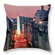 Pink Buenos Aires  Throw Pillow