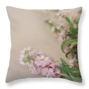 Pink Bunches Throw Pillow