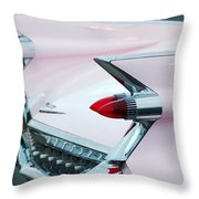 Pink Cadillac Eldorado Tail Fin Throw Pillow