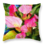 Pink Calla Lilly Throw Pillow