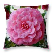 Pink Camellia Dream  Throw Pillow