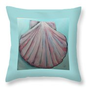 Pink Clam Shell Throw Pillow