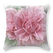 Pink Climbing Roses Throw Pillow