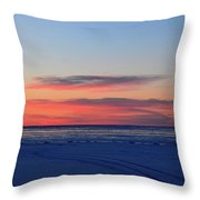 Pink Clouds Before Sunrise Two  Throw Pillow